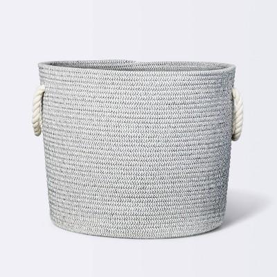 Coiled Rope Storage Bin Large Chevron - Cloud Island™ Gray