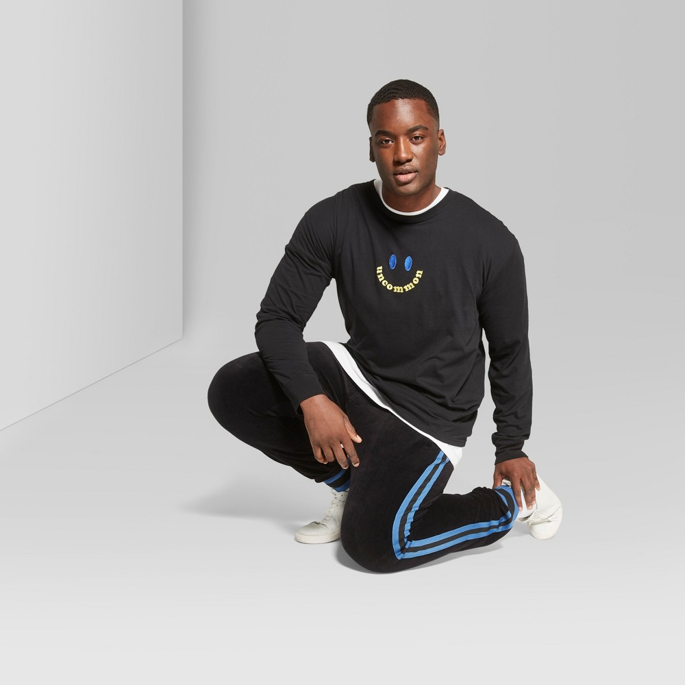 Men's Big & Tall Long Sleeve Boxy Graphic T-Shirt - Original Use Deep Charcoal 4XB, Black