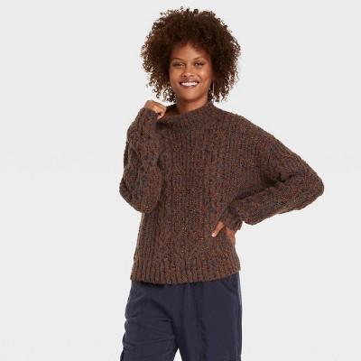 Women's Mock Turtleneck Pullover Sweater - Knox Rose™