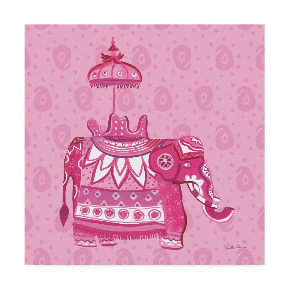 14 34 X 14 34 Jeweled Elephant Iii By Farida Zaman Trademark Fine Art