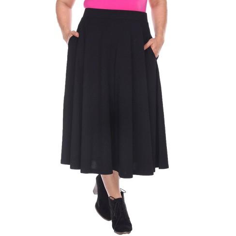Women's Plus Size Tasmin Flare Midi Skirts - White Mark - image 1 of 3