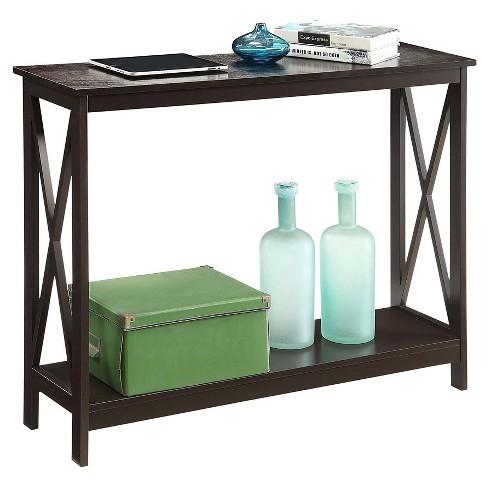 Oxford Console Table Espresso - Espresso - Convenience Concepts   Target f9855a453
