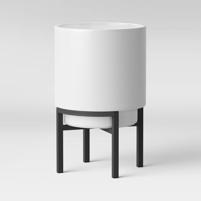 18  Ceramic Planter With Stand White & Black - Project 62™