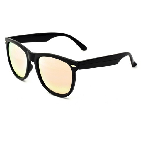 Women's Surf Sunglasses with Rose Mirror Lens - Wild Fable™ Black - image 1 of 2