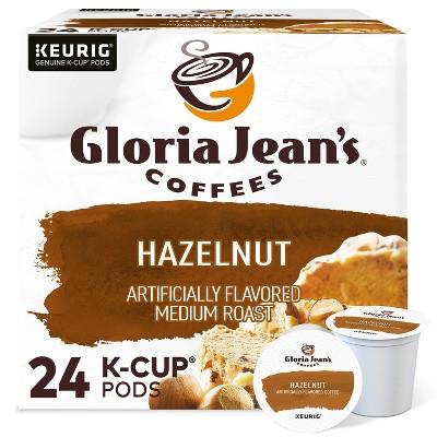 Gloria Jean's Hazelnut Coffee Pods Flavored Coffee Medium Roast - 24ct