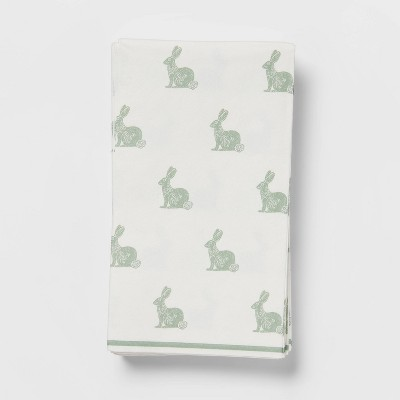 16ct Paper Woodblock Bunny Disposable Guest Towels - Threshold™