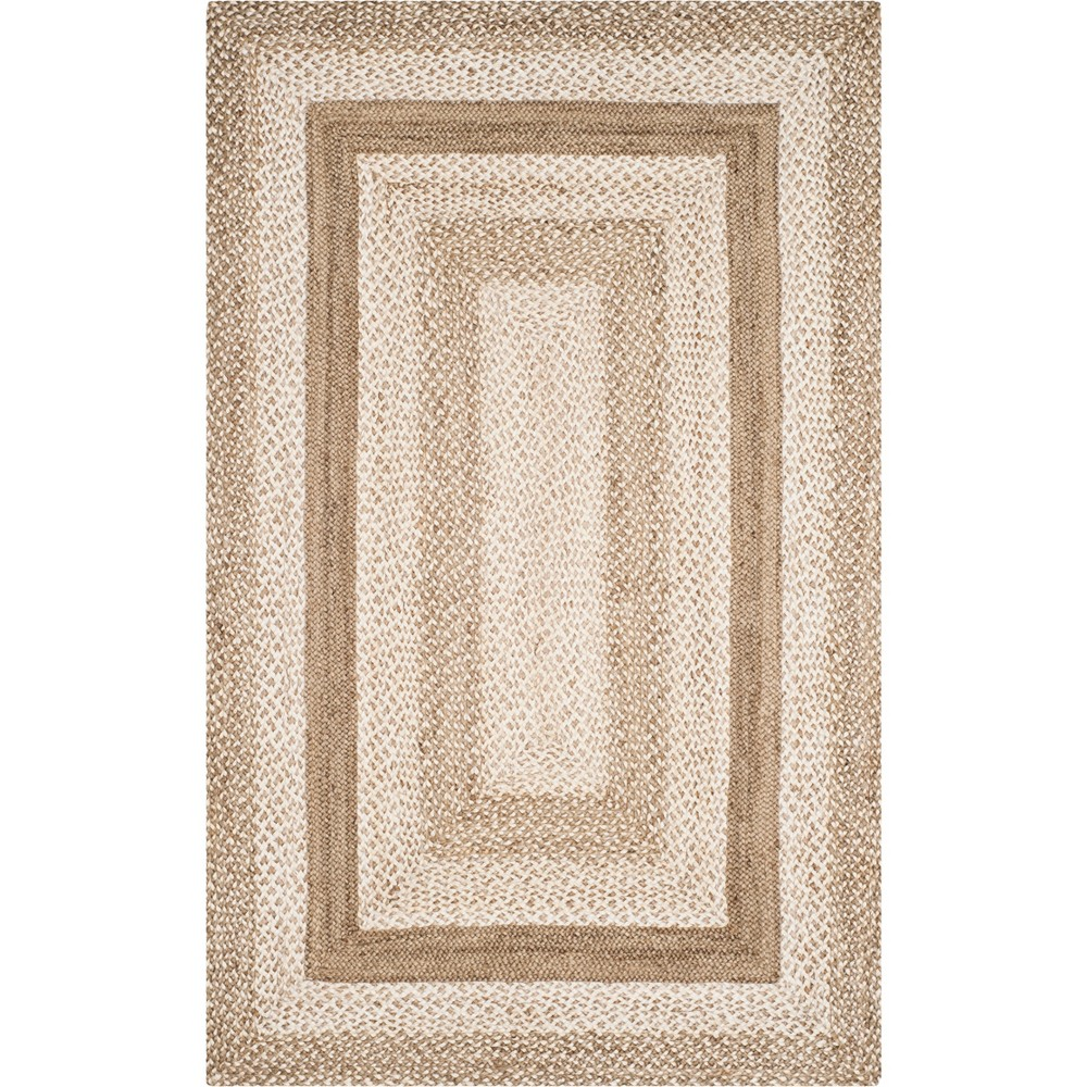 5'X8' Stripe Woven Area Rug Gray/Ivory - Safavieh