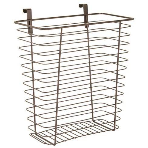 mDesign Hanging Over Cabinet Door Kitchen Storage Basket/Trash Can - image 1 of 4