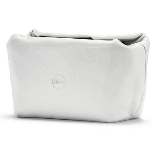 Leather Soft Pouch with Magnetic Closer, Size S, White - fits Leica C-Lux, D-Lux and Leica C - image 1 of 1