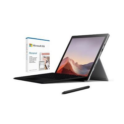 "Microsoft Surface Pro 7 12.3"" Intel Core i5 8GB RAM 128GB SSD Platinum + Surface Pro Signature Type Cover Black+Surface Pen Charcoal+Microsoft 365 ..."
