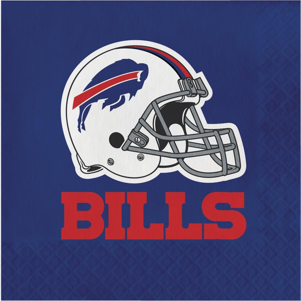 16ct Buffalo Bills Napkins, Multi-Colored