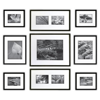 Gallery Perfect 9 Piece Multi-Size Wall Frame Set - Black