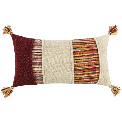 """14""""x26"""" Oversized Panel Striped Lumbar Throw Pillow Cover - Rizzy Home"""