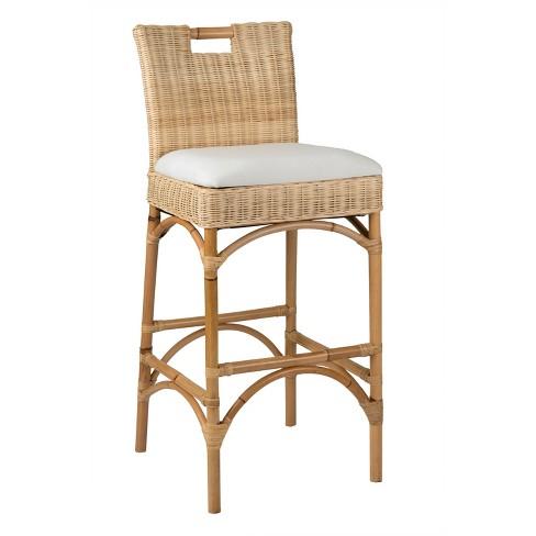 Super Barton Rattan Barstool Beige East At Main Inzonedesignstudio Interior Chair Design Inzonedesignstudiocom