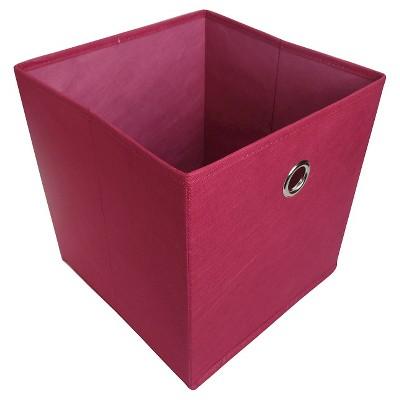 11  Fabric Cube Storage Bin Pink - Room Essentials™