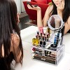 Sorbus Makeup Storage Organizer with Magnifying Mirror - Clear - image 2 of 4