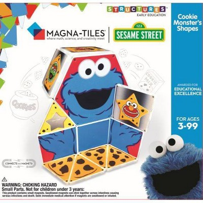 Magna-Tiles Sesame Street - Cookie Monster C Is For Cookie