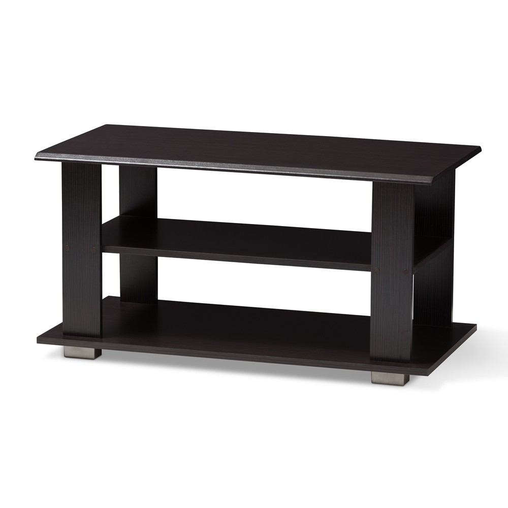 Image of Joliette Modern and Contemporary Finished Coffee Table Dark Brown - Baxton Studio