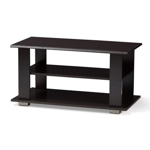 Joliette Modern And Contemporary Finished Coffee Table Dark Brown Baxton Studio Target