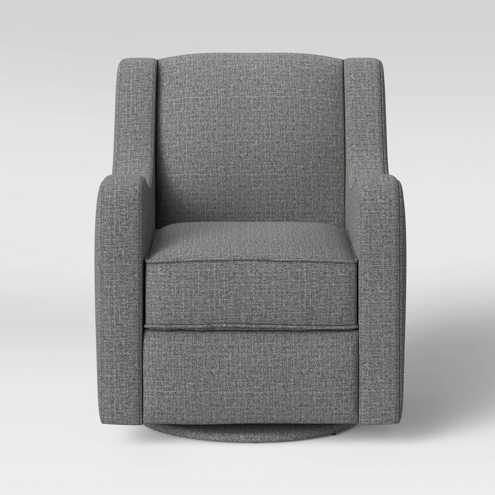 Antrim Curved Arm Swivel Glider Chair Dark Gray - Threshold
