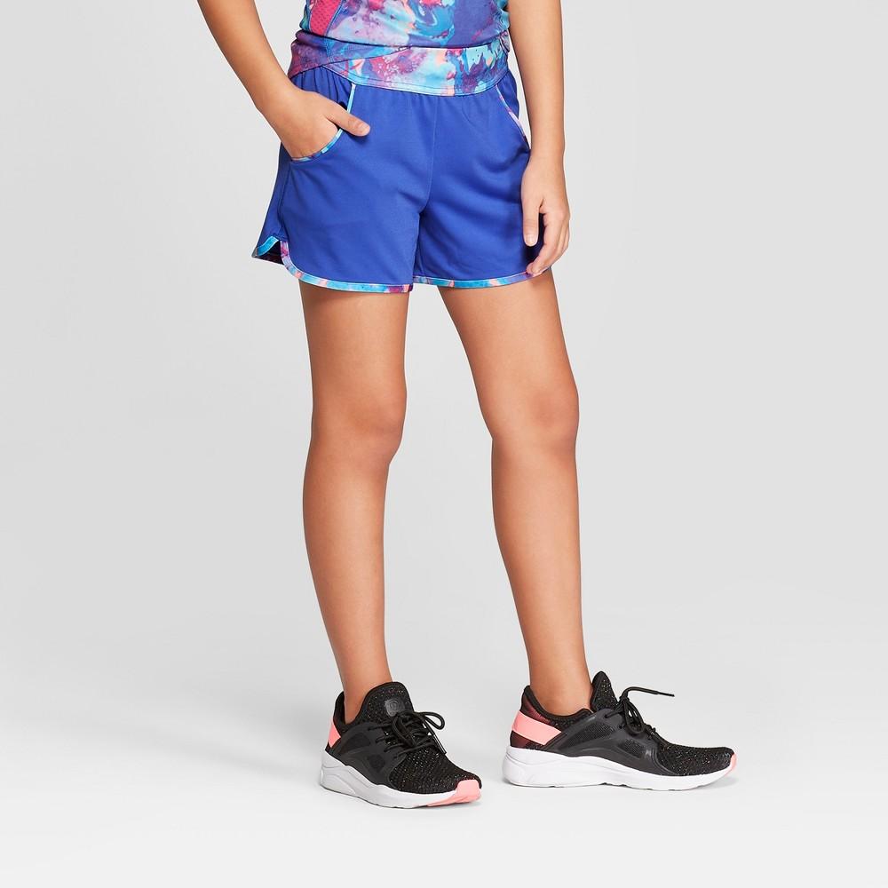 Girls' Knit Performance Shorts - C9 Champion Blue XS