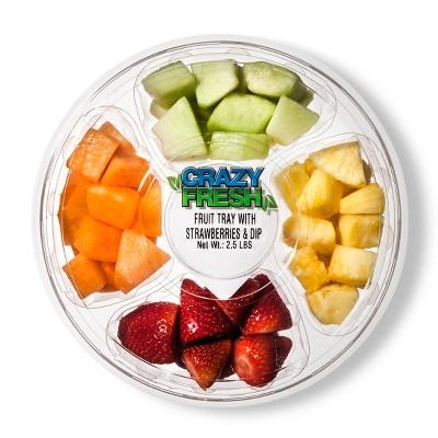 Crazy Fresh Round Fruit Tray - 2.5lb