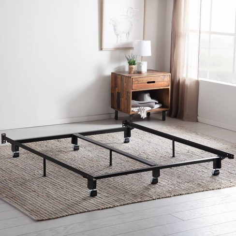 Steel Wedge Lock Metal Bed Frame with Rug Rollers - Brookside - image 1 of 4