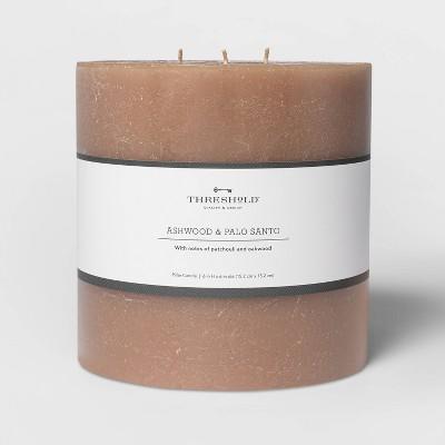 Pillar Ashwood and Palo Santo Candle Tan - Threshold™