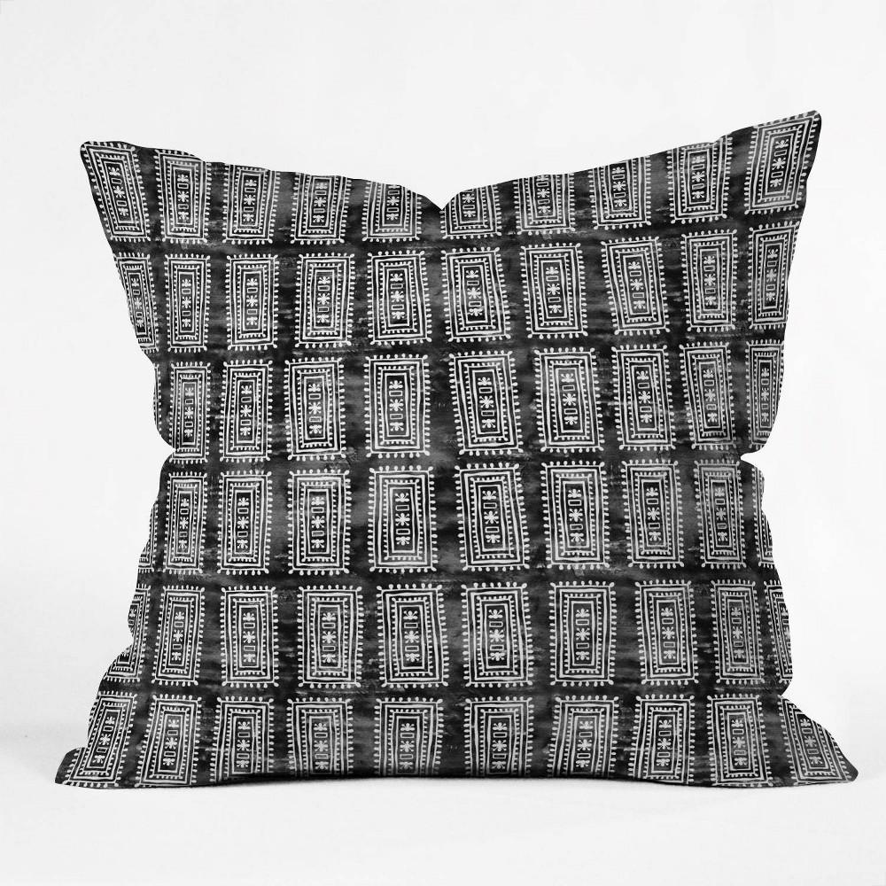 16 34 X16 34 Schatzi Brown Efate Throw Pillow Black White Deny Designs