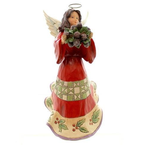 Jim Shore Naturally Festive Angel Christmas Pinecone Wreath - image 1 of 4