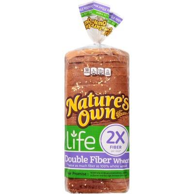 Nature's Own Life Double Fiber Wheat Bread - 20oz