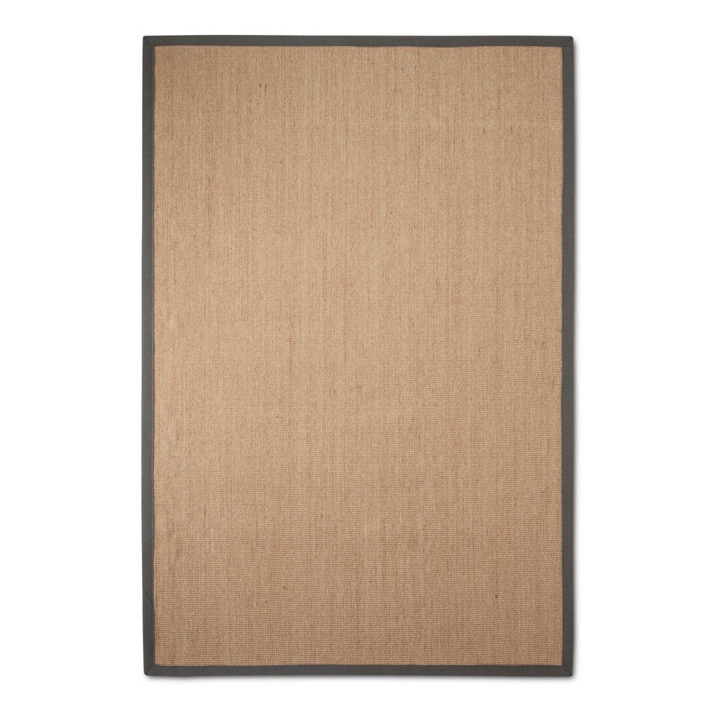 Sterling Gray Solid Loomed Area Rug - (6'x9') - nuLOOM, Light Grey