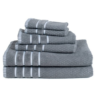 6pc Combed Cotton Bath Towel Set - Yorkshire Home