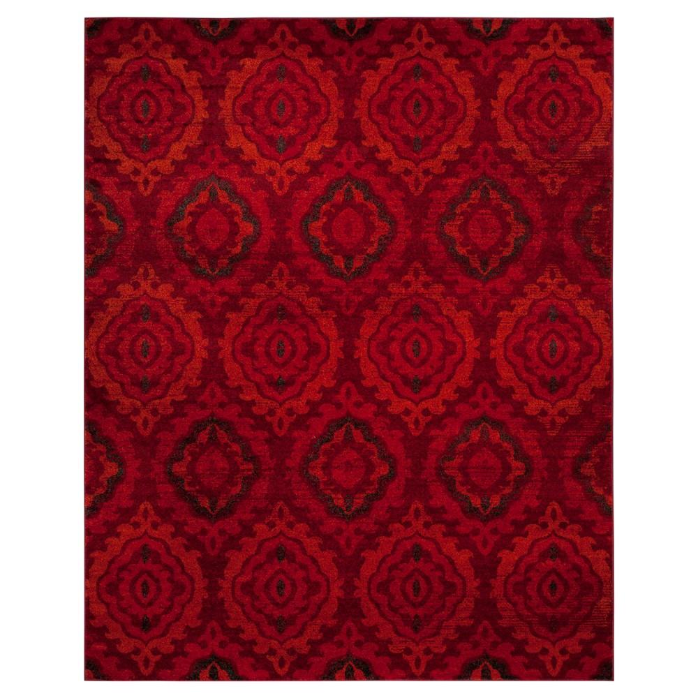 Red/Orange Abstract Loomed Area Rug - (8'X10') - Safavieh