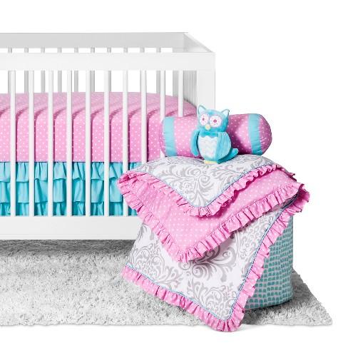 Sweet Jojo Designs Crib Bedding Set Skylar 11pc Pink