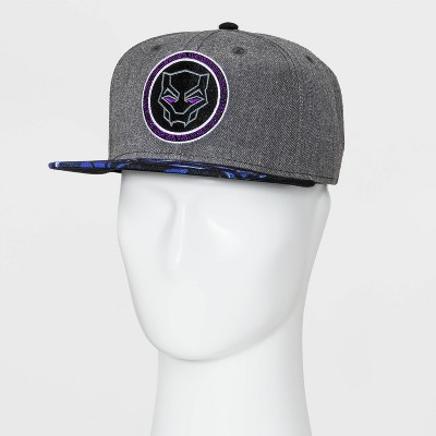 e75fab0460c Men s Marvel Black Panther Flat Brim Baseball Hat - Black One Size