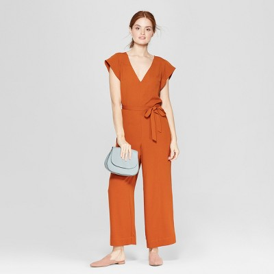view Women's Short Sleeve V-Neck Jumpsuit - A New Day on target.com. Opens in a new tab.