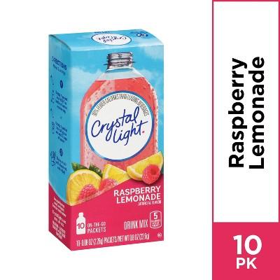 Crystal Light Raspberry Lemonade Drink Mix - 10pk/0.8oz