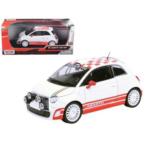Fiat Abarth 500 R3t White 1 24 Diecast Car Model By Motormax Target