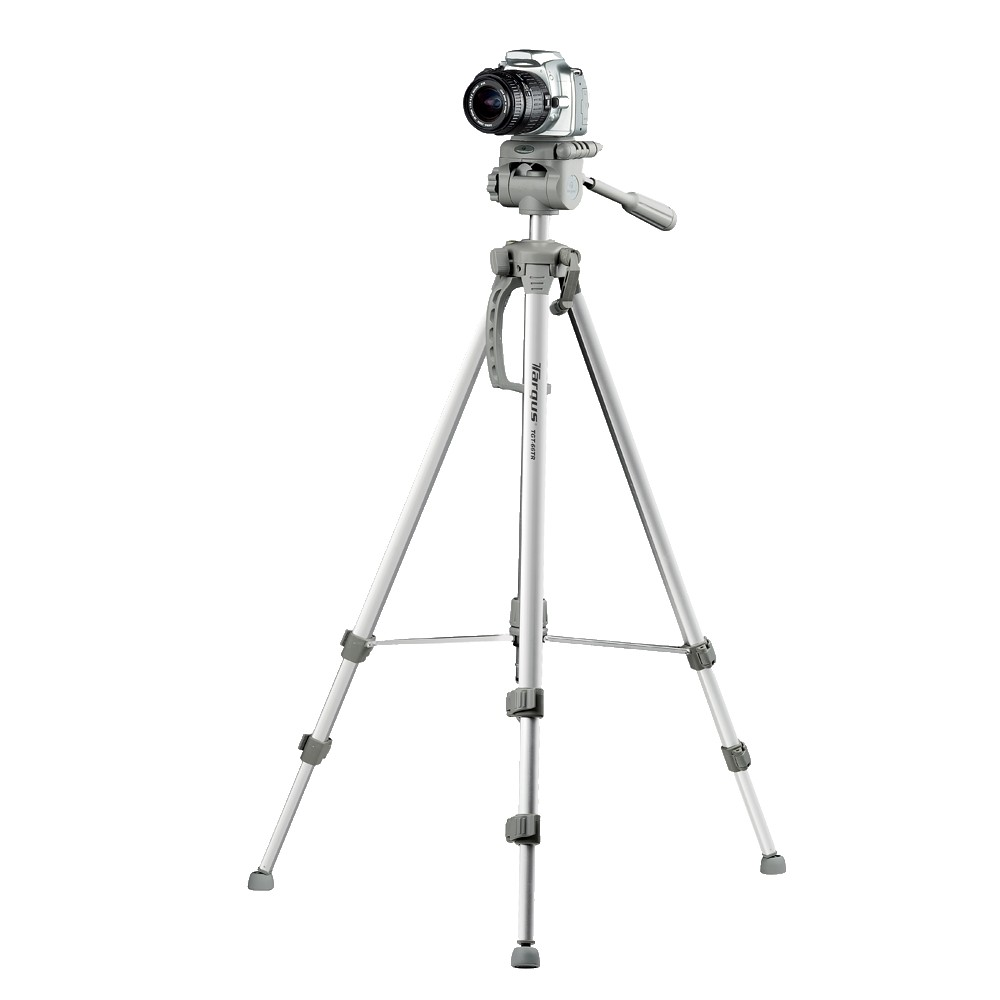 Targus TG-6660TR 66 Extendable Tripod, Silver Great for cameras and camcorders alike, this tripod features a secure three-way panhead mount. Easy to set up, this tripod can be packed and moved at a moment's notice. Color: Silver.