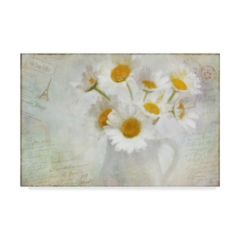 "Cora Niele Daisies Paris Vintage Unframed Wall 16""x24"" - Trademark Fine Art - image 1 of 3"
