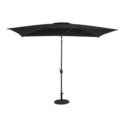 10' x 6.5' Rectangular Bimini Market Patio Umbrella Black - Island Umbrella