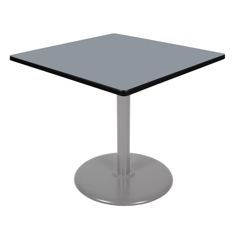36 Via Square Platter Base Table Gray - Regency