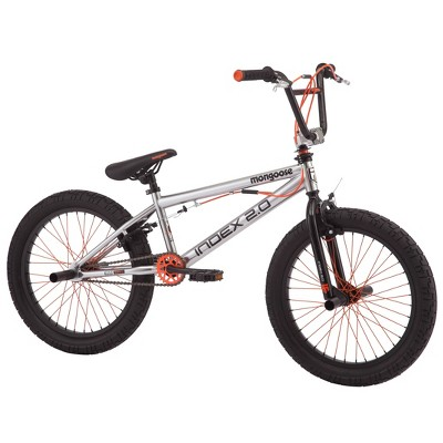 "Mongoose Index 2.0 20"" Freestyle Bike - Silver"