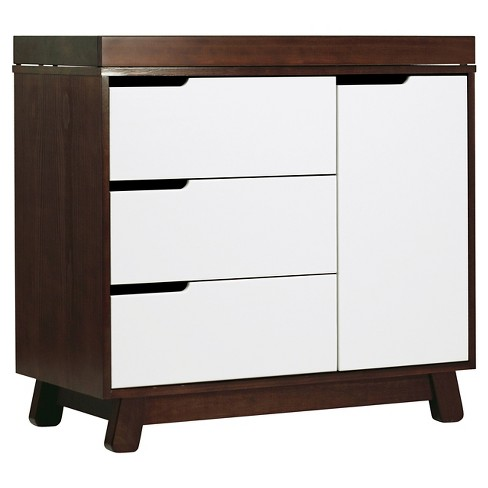 Babyletto Hudson 3 Drawer Changer Dresser With Changing Tray Espresso White Target