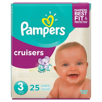 Pampers Cruisers Diapers Jumbo Pack - Size 3 (25ct)