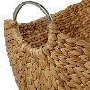 """Olivia & May 14""""x16""""x19x21"""" Set of 4 Dried Plant Wicker Baskets with Iron Handles - image 4 of 4"""