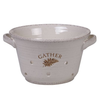 46oz 2pk Stoneware Gather Berry Bowls White - Certified International