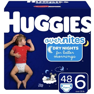 Huggies Overnites Nighttime Diapers Super Pack - Size 6 (48ct)