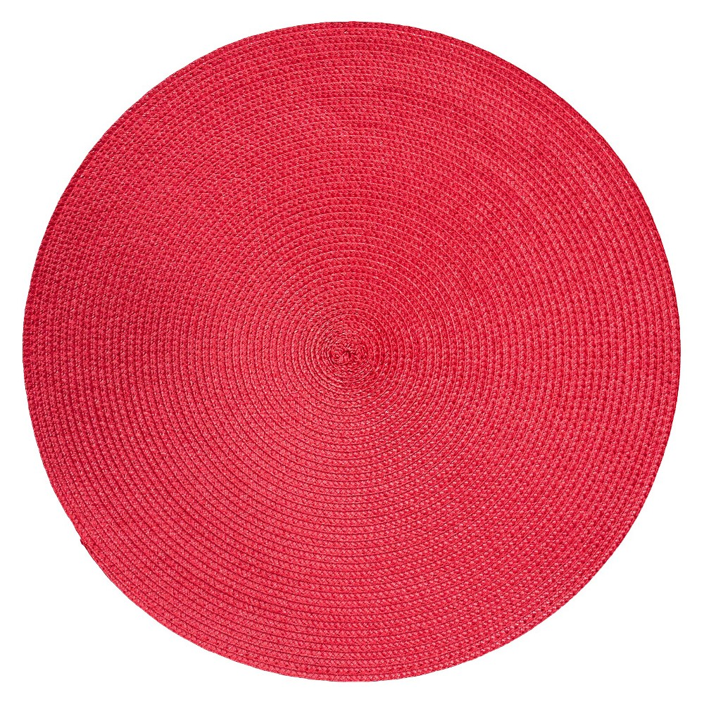 "Image of ""15""""x15"""" Polyround Placemat Red - Room Essentials"""
